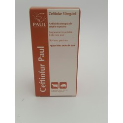CEFTIOFUR 5% PAUL SUSP. X 100 ML