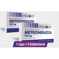 METRONIDAZOL 500 MG 2 BL X 8 COMP. DERMOVET