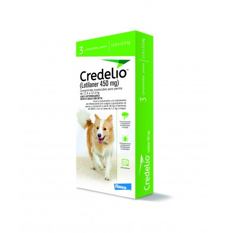 CREDELIO 450MG 11-22 KG X 3 COMP