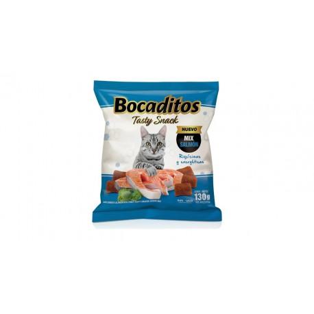 BOCADITOS TASTY SNACK SALMON X 130 GR