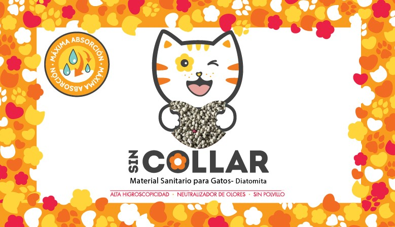 SIN COLLAR - MATERIAL SANITARIO PARA GATOS -DIATOMITA